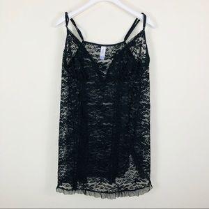 Secret Treasures Black Lace Teddy Size18/20